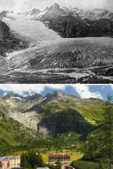 Швейцарські вчені показали, як за півтора століття змінилися альпійські льодовики
