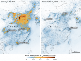 У Китаї через коронавірус значно знизилося забруднення повітря - NASA