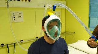 Італійці перетворюють маски для пірнання на апарати для вентиляції легень